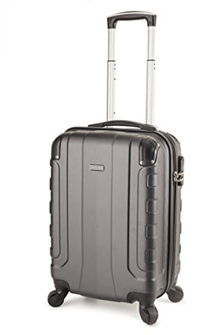Travelcross Chicago Carry On Lightweight Hardshell Spinner Luggage - Dark Gray