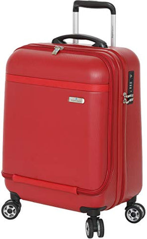 Regent Square Travel - Small Suitcase Hardside Spinner With Goodyear Wheels And Built-in TSA Luggage Lock - Luggage Cabin Approved - Carry-On - Urban Red