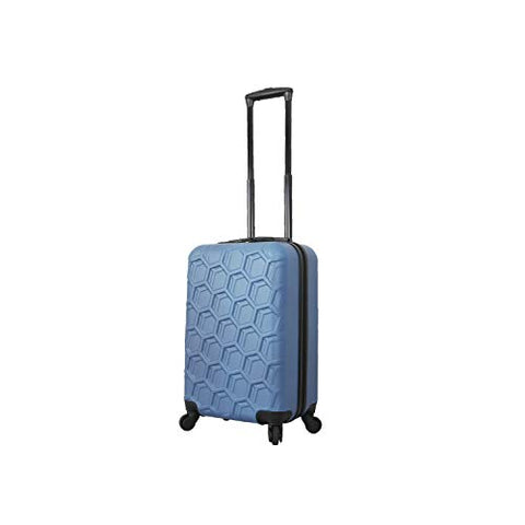Mia Toro Italy Molded Art Hive Hard Side Spinner Carry-on, Blue