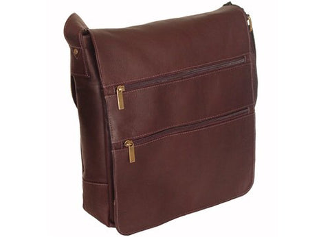 David King & Co. Laptop Messenger Bag With 2 Zip Pockets, Cafe, One Size