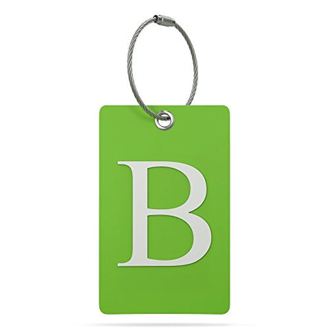 Luggage Tag Initial – Fully Bendable Tag w/ Stainless Steel Loop (Letter B)