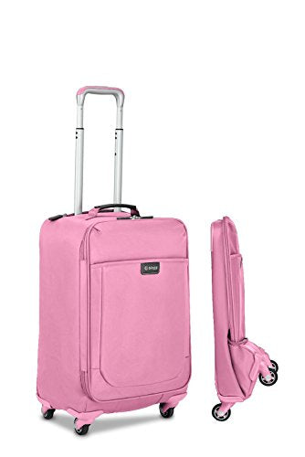"Biaggi Leggero 22"" Foldable Spinner Carry On, Pink"