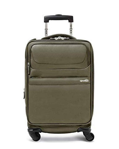 "Genius Pack G4 22"" Carry On Spinner Luggage - Smart, Organized, Lightweight Suitcase (G4 - Titanium)"