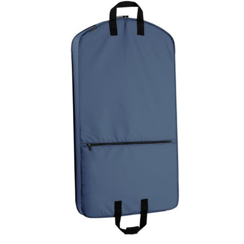 "WallyBags Luggage 42"" Garment Bag with Pocket, Navy"