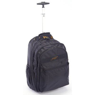 A. Saks Expandable Trolley Laptop Backpack (Black)