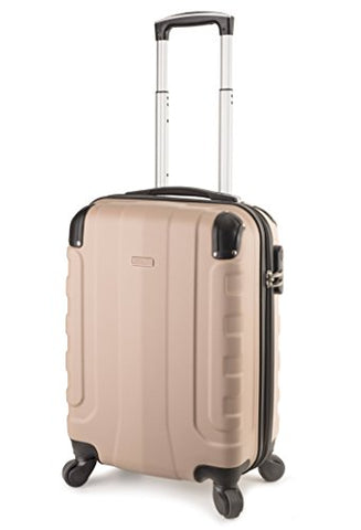Travelcross Chicago Carry On Lightweight Hardshell Spinner Luggage - Champagne