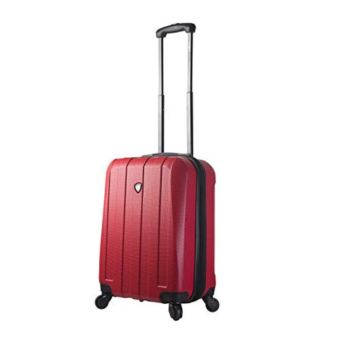 Mia Toro Italy Tosetti Hardside Spinner Carry-on, Red