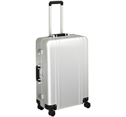 Zero Halliburton Classic Aluminum 26 Inch 4 Wheel Spinner Travel Case, Silver, One Size