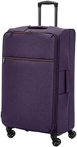 AmazonBasics Belltown Softside Rolling Spinner Suitcase Luggage - 29 Inch, Heather Purple