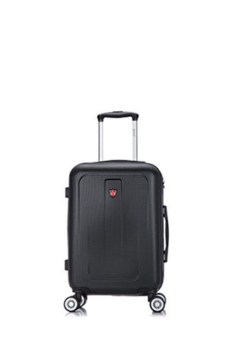 Dukap Luggage Crypto Lightweight Hardside Spinner 20'' Inches Carry-On Black
