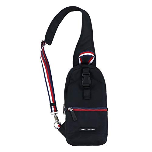 Tommy Hilfiger Single Strap Backpack Crossbody - Signature Black