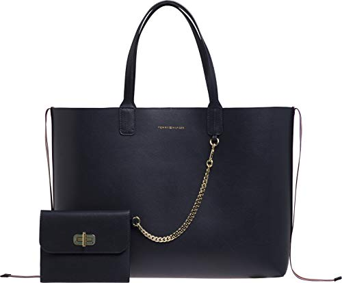 Tommy Hilfiger Iconic Turnlock Tote Womens Shopper Bag One Size Tommy Navy