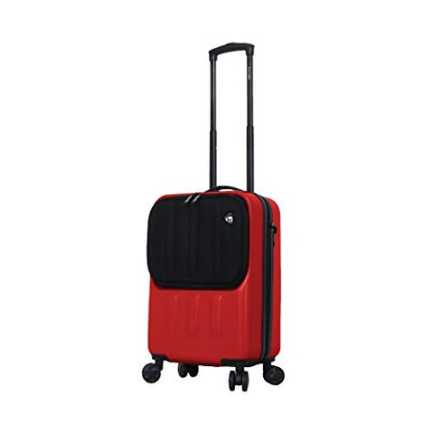 Mia Toro Furbo Smart Italy Hardside Spinner Luggage Carry-on, Red