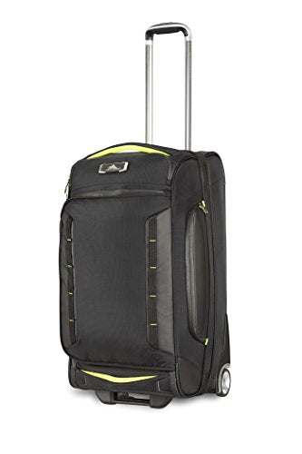 High Sierra At8 Wheeled Upright Duffel Bag, Black/Zest, 26""