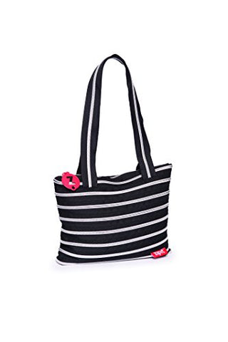 Zipit Tote Bag (Black & Silver Teeth)