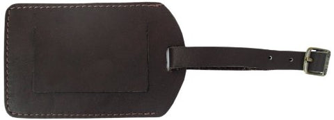 Piel Leather I.D. Tag, Chocolate, One Size