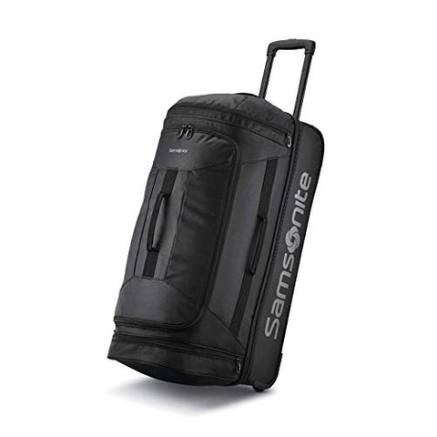 Samsonite Andante 2 Boxed Drop Bottom Wheeled Duffel 28, All Black
