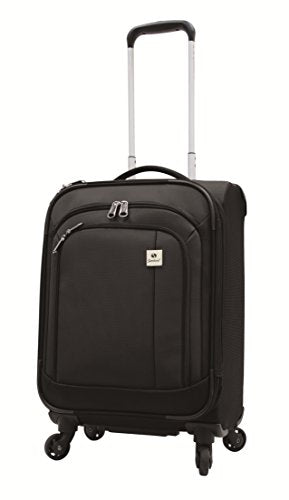Samboro Feather Lite Lightweight Luggage 23 Inches Exp. Spinner Trolley - Black Color