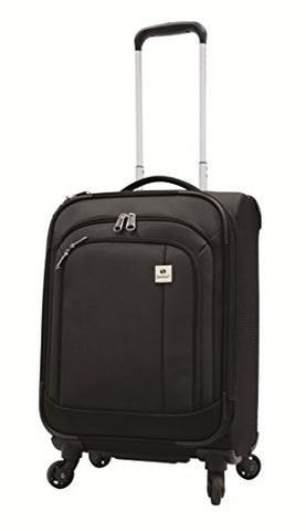 Samboro Feather Lite Lightweight Luggage 19 Inches Exp. Carry-On Spinner Trolley - Black Color