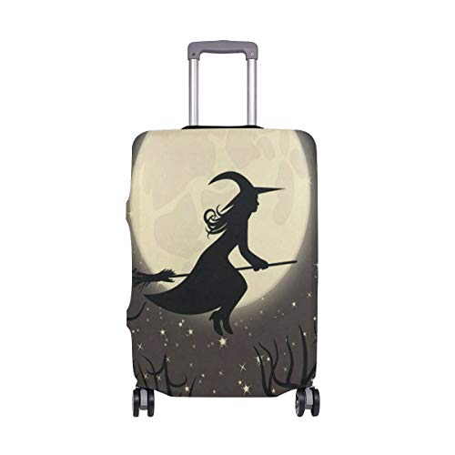 Suitcase Cover Witch With A Broom Luggage Cover Travel Case Bag Protector for Kid Girls