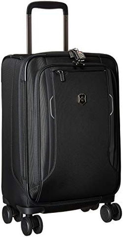 Victorinox Werks Traveler 6.0 Frequent Flyer Softside Carry-On Spinner Suitcase, 21-Inch, Black