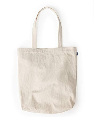 BAGGU Merch Tote, Simple and Easy Canvas Tote Bag, Natural Canvas
