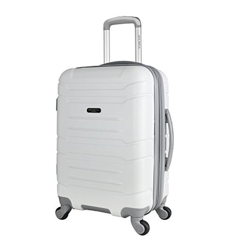 "Olympia Denmark 21"" Carry-on Spinner, White"