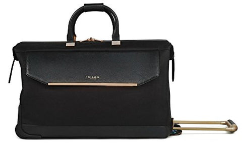 Ted Baker Womens Albany Softside Large Wheeled Trolley Duffel (One Size, Black)