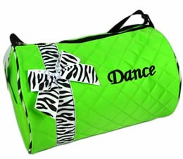 Quilted Zebra Duffel 3 Colors (Bright Green)