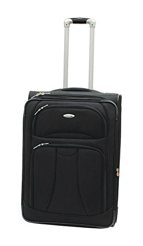 "Westjet Navigator Lightweight Luggage Exp. Upright Pullman 26""-Black"
