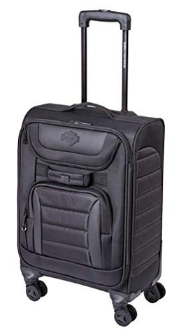 "Harley-Davidson 22"" Onyx Quilted Carry-On Wheeled Luggage -Black 99223-BLK (22"")"