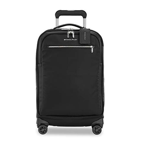 Briggs & Riley Unisex-Adult's Rhapsody Tall Carry-On Spinner, Black