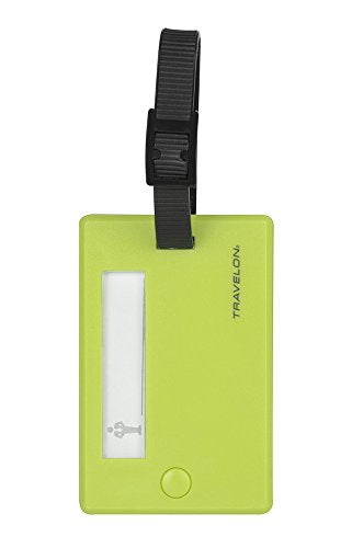 Travelon Set Of 2 Luggage Tags, Lime, One Size
