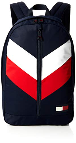 Tommy Hilfiger Backpack Chevron, Men's Backpack, Blue (Corporate), 16x46x30 cm (B x H T)