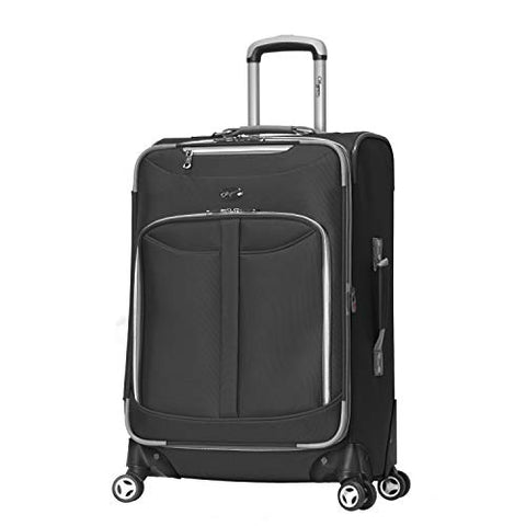 Olympia Luggage  Tuscany 25 Inch Expandable Vertical Rolling Luggage Case,Black,One Size