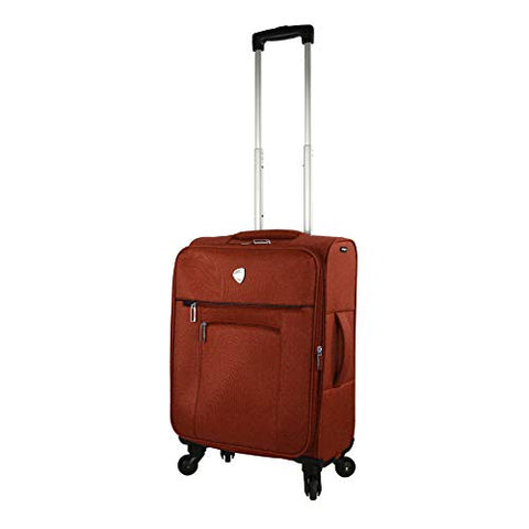 Mia Toro Italy Adige Softside Spinner Carry-on, Brick