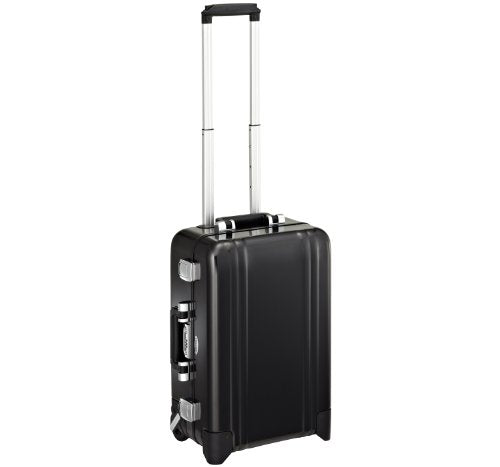 Zero Halliburton Classic Aluminum Carry On 2 Wheel Travel Case, Black, One Size