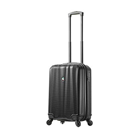 Mia Toro Italy Pozzi Hardside Spinner Carry-on, Black