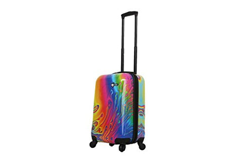 Mia Toro Italy-Vortice Hardside Spinner Luggage Carry-on, Multicolored