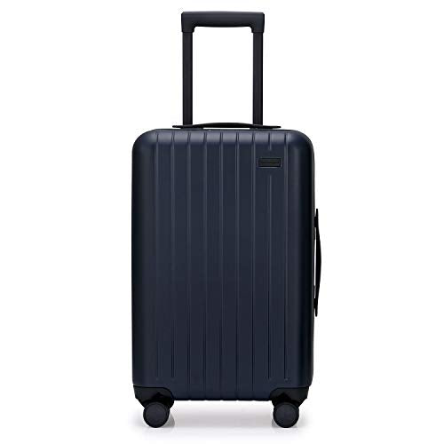 GoPenguin Luggage, Carry On Luggage with Spinner Wheels, Hardshell Suitcase for Travel with Built in TSA Lock Navy Blue