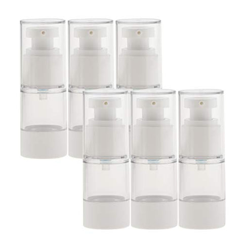Baoblaze 6pcs 15/30ml Pump Scent Spray Bottle Vacuum Spray Bottle Cosmestic Container Portable Suit