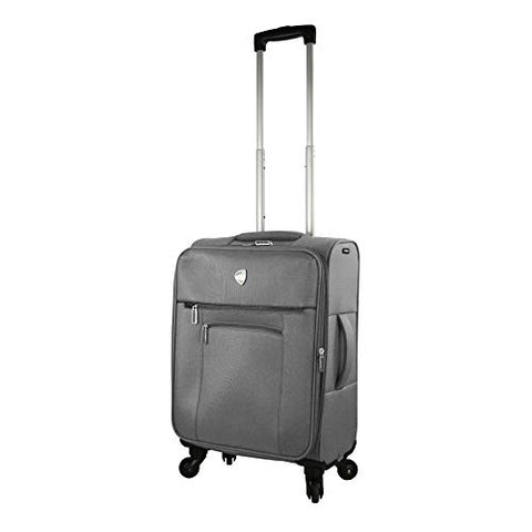Mia Toro Italy Adige Softside Spinner Carry-on,Grey