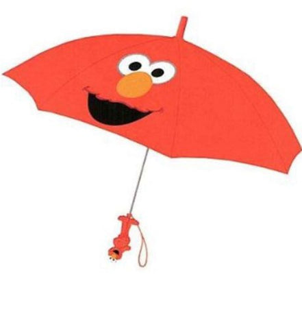 Sesame Street Elmo Collapsible Umbrella With 3D Handle