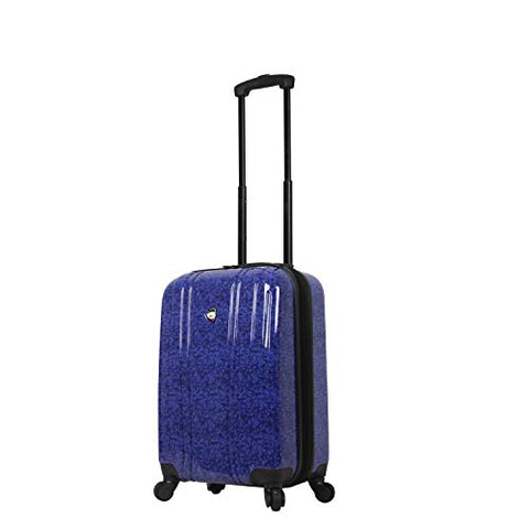 Mia Toro Italy Gita Hardside Spinner Carry-on, Blue