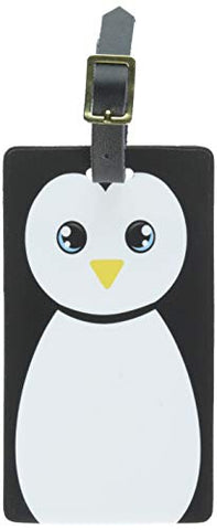 Graphics & More Penguin Cute Luggage Tags Suitcase Carry-on Id, White