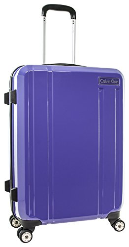 "Calvin Klein Beacon 24"" Expandable Hardside Spinner, Purple"