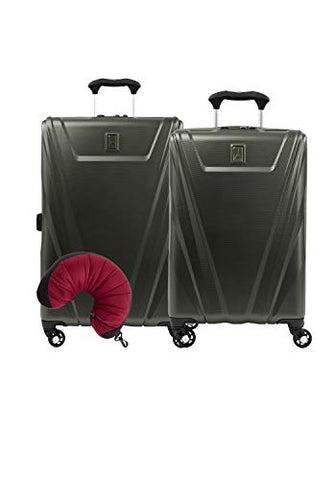 Travelpro Maxlite 5 Hardside 3-Pc Set: Carry-On And 25-Inch Spinner With Travel Pillow (Slate