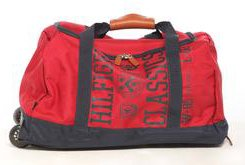 Tommy Hilfiger Varsity Duffel Travel Bag on Wheels