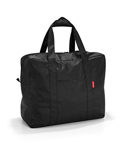 reisenthel Mini Maxi Touringbag, Packable Carryall for Travel and Everyday with Zippered Closure and Storage Pouch, Fastens to Roller Bags, Water-repellent, Black