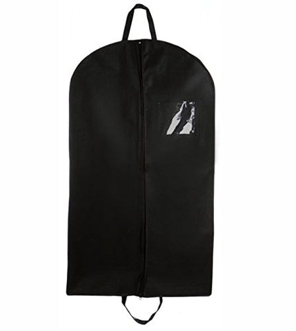 "Bags For Less Breathable 55"" Garment Bag With Handles And Gusset, Black"